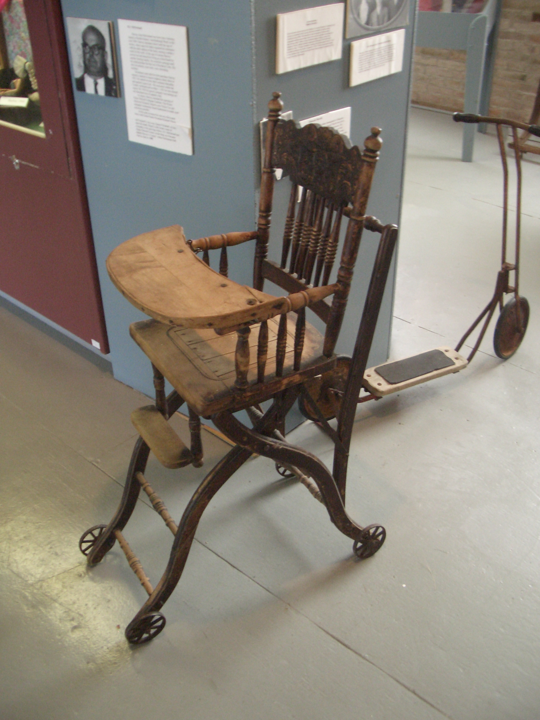 Superb img of Antique high chair [image 1728x2304 pixels] with #826849 color and 1728x2304 pixels