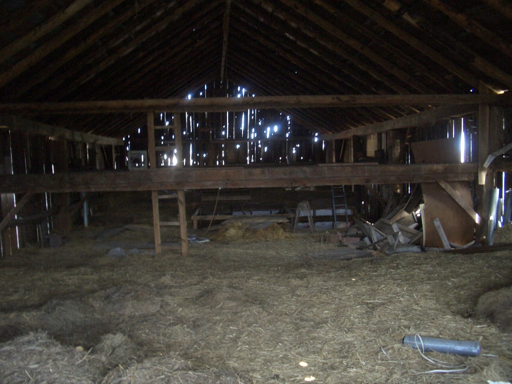 Inside an old barn 2  ...