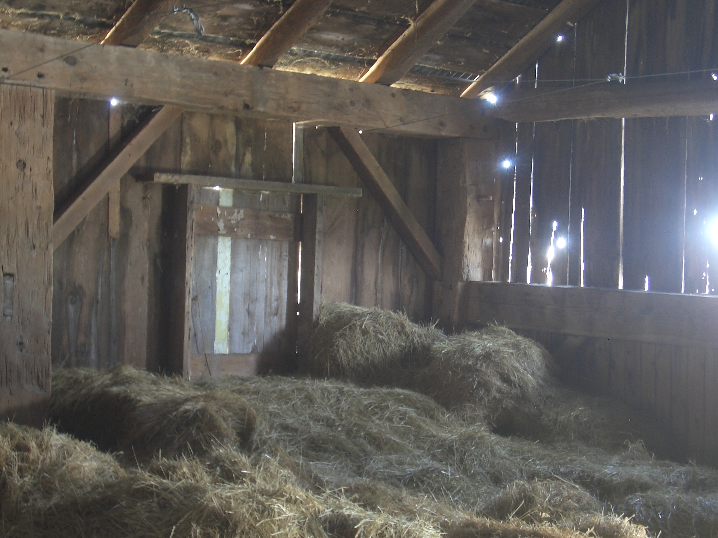 Inside an old barn 14 ...