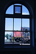 [picture: Engine seen through the waiting room window 1]