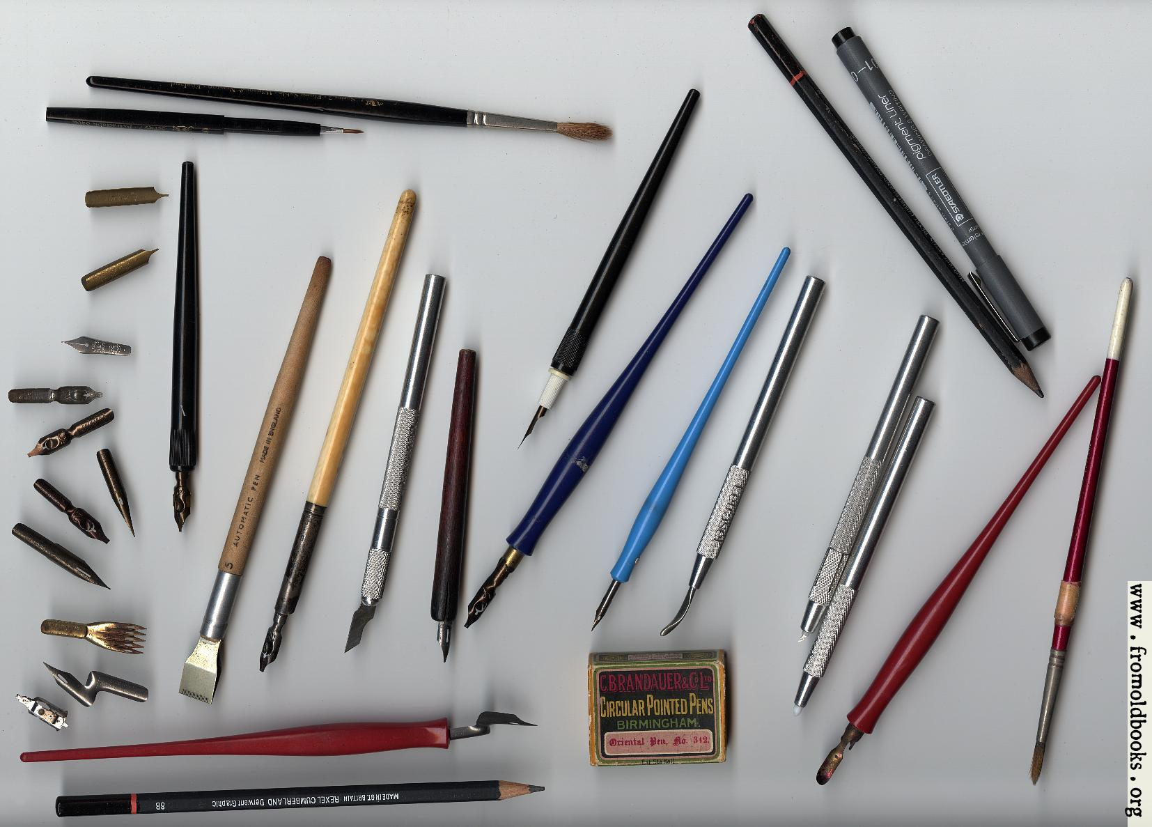 some tools for calligraphy image 500x359 pixels