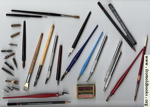 [Picture: Some tools for calligraphy]