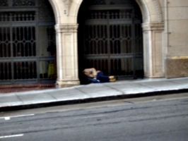 [picture: Homeless in riches]