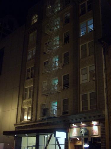 [Picture: Fire Escape at Night]