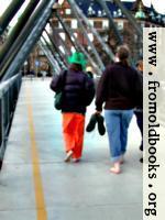 [picture: Seth and Liam cross a bridge]