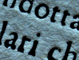 [picture: Eighteenth Century Text: macro shot 3]