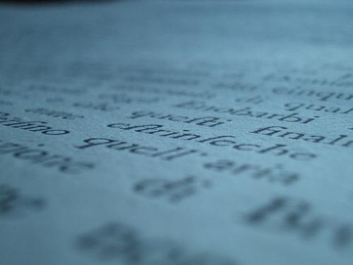 [Picture: Eighteenth Century Text: macro shot]