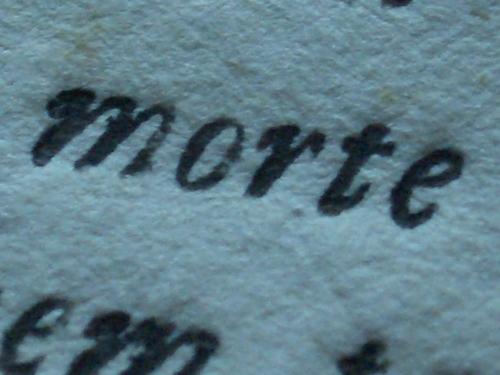 [Picture: Eighteenth Century Text: macro shot 4]
