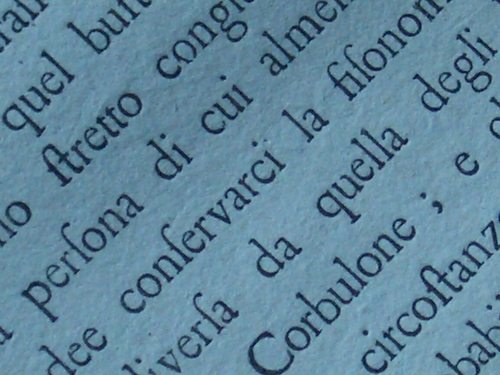 [Picture: Eighteenth Century Text: macro shot 5]