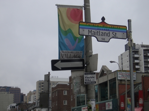 [Picture: Maitland Street: Church Wellesley Village]