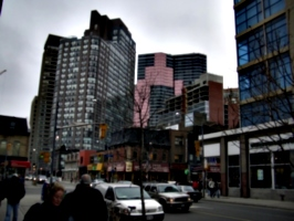 [Picture: Tall buildings seen from Yonge St.]