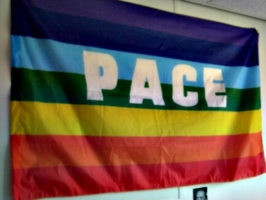 [picture: PACE rainbow flag]