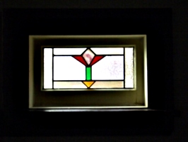 [picture: Art deco stained glass window]