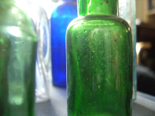 [Picture: Old bottles in daylight 2]