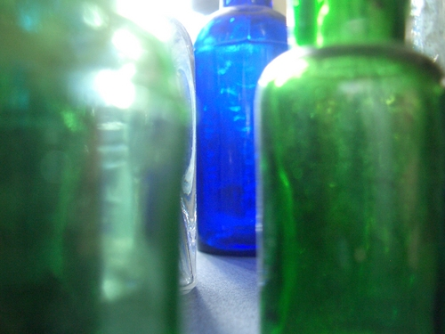 [Picture: Old bottles in daylight 3]