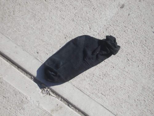 [Picture: Abandoned Sock]