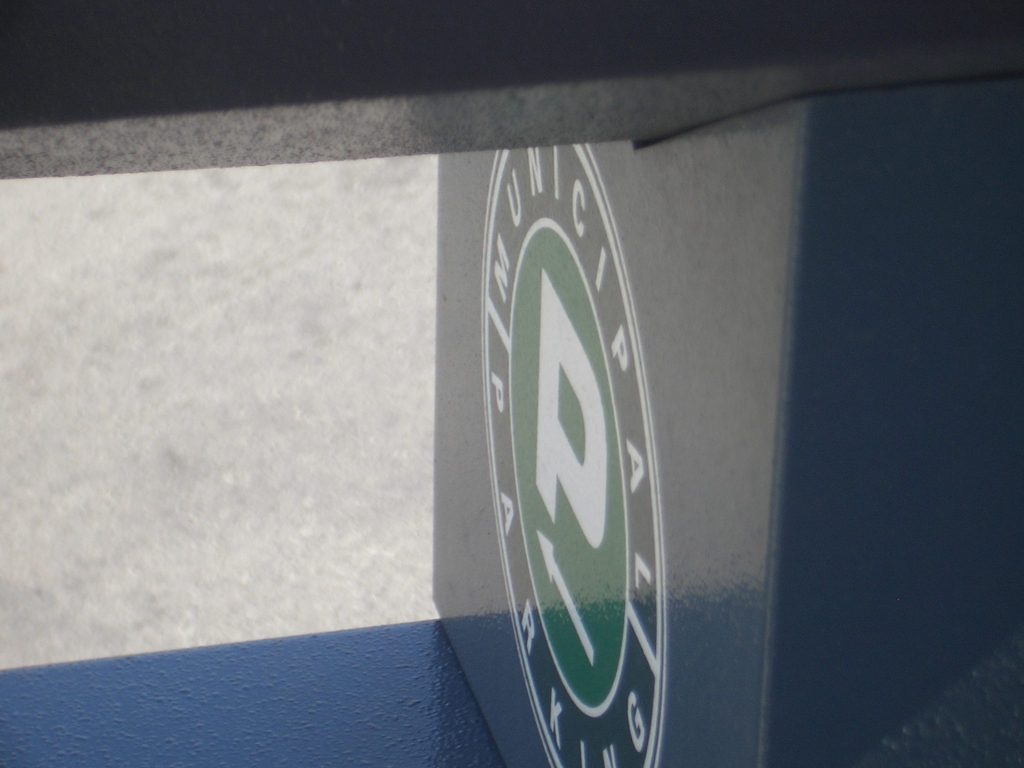 [Picture: Municipal Parking Sign]