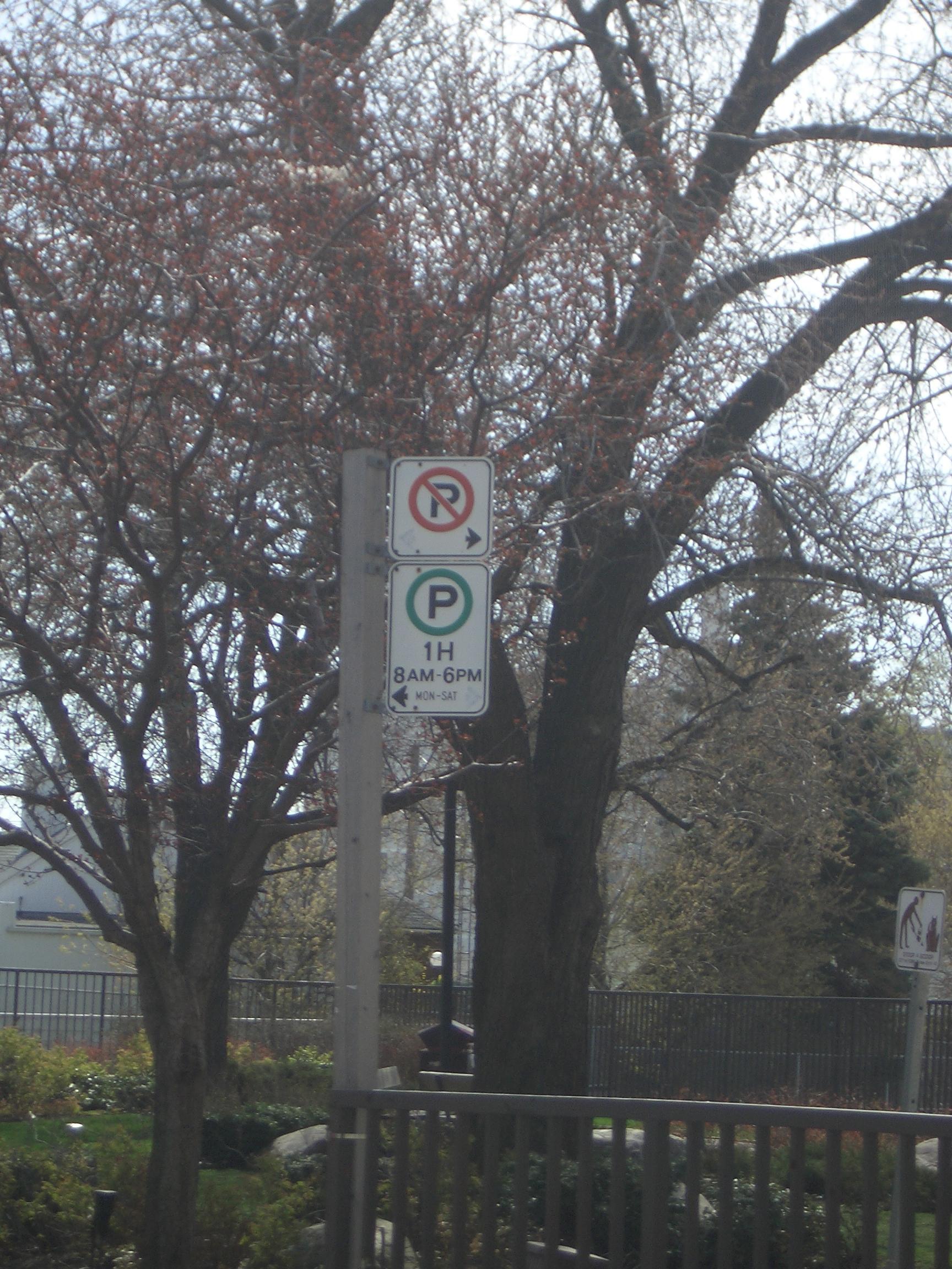 [Picture: No Parking]