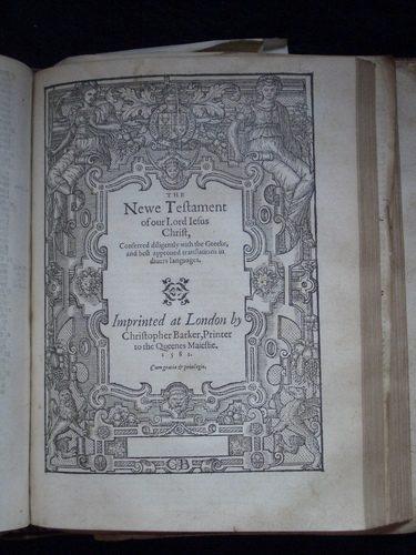 [Picture: Geneva Bible Title Page]
