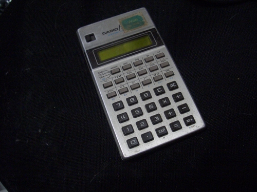 [Picture: A pocket calculator]