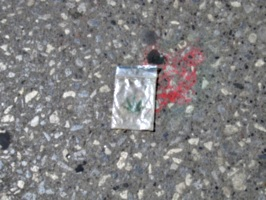 [picture: Abandoned cannibis packet]
