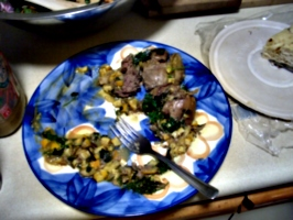 [picture: Half-eaten dinner]