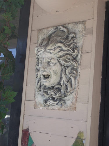 [Picture: Carved Stone Medusa]
