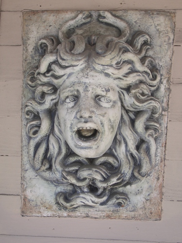 [Picture: Carved Stone Medusa 2]