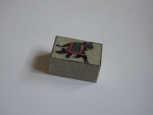 [Picture: Small carved jade box from India]