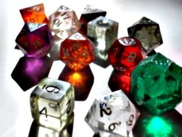 [picture: coloured plastic gaming dice 2]