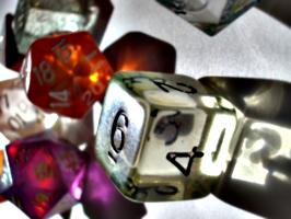 [picture: coloured plastic gaming dice 3]