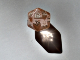 [picture: coloured plastic gaming dice 6]