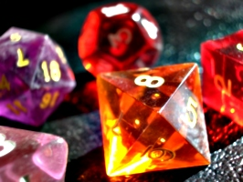 [picture: coloured gaming dice 4]