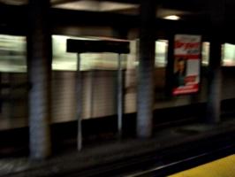 [picture: Motion blur subway (underground railway) station]