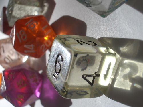 [Picture: coloured plastic gaming dice 3]