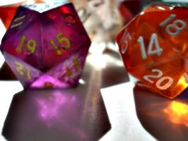 [Picture: coloured plastic gaming dice 4]