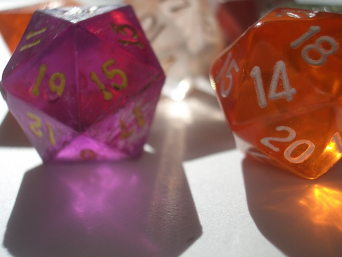 [Picture: coloured plastic gaming dice 4]