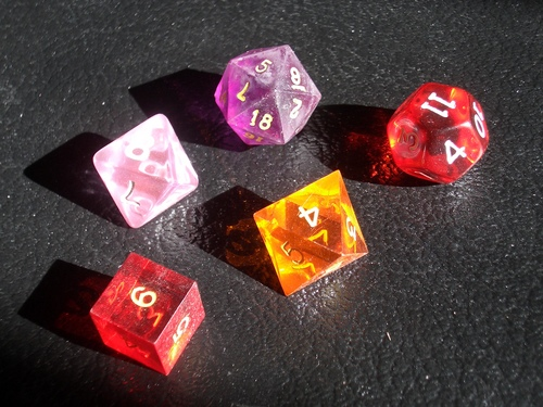 [Picture: coloured gaming dice 2]