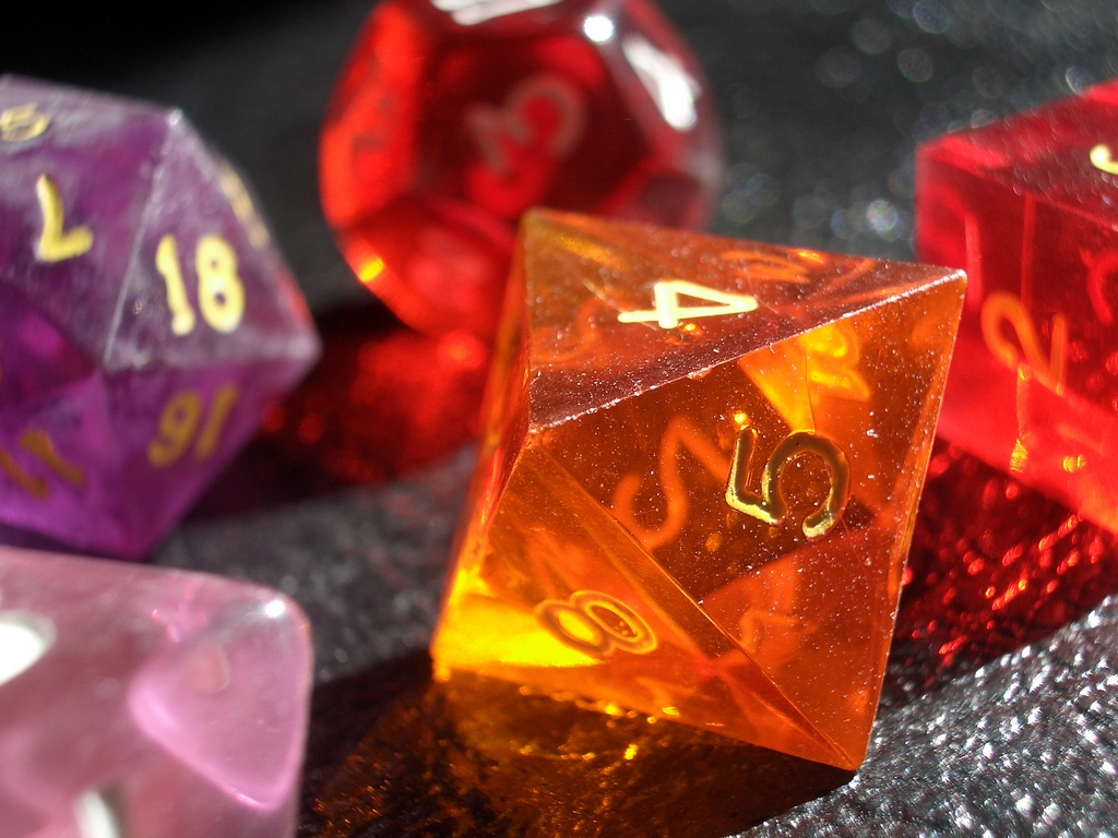 [Picture: coloured gaming dice 3]