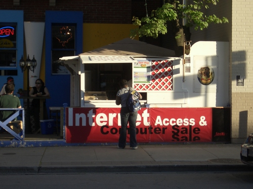 [Picture: Internet Access, Computers and Hot Dogs]