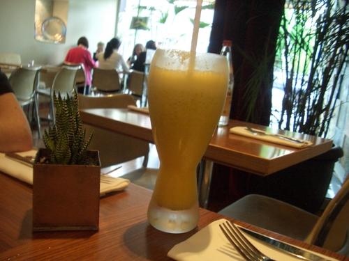 [Picture: Yellow milk shake]
