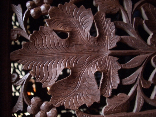 [Picture: Wooden carved flower]