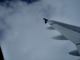 [picture: Wing and Clouds]