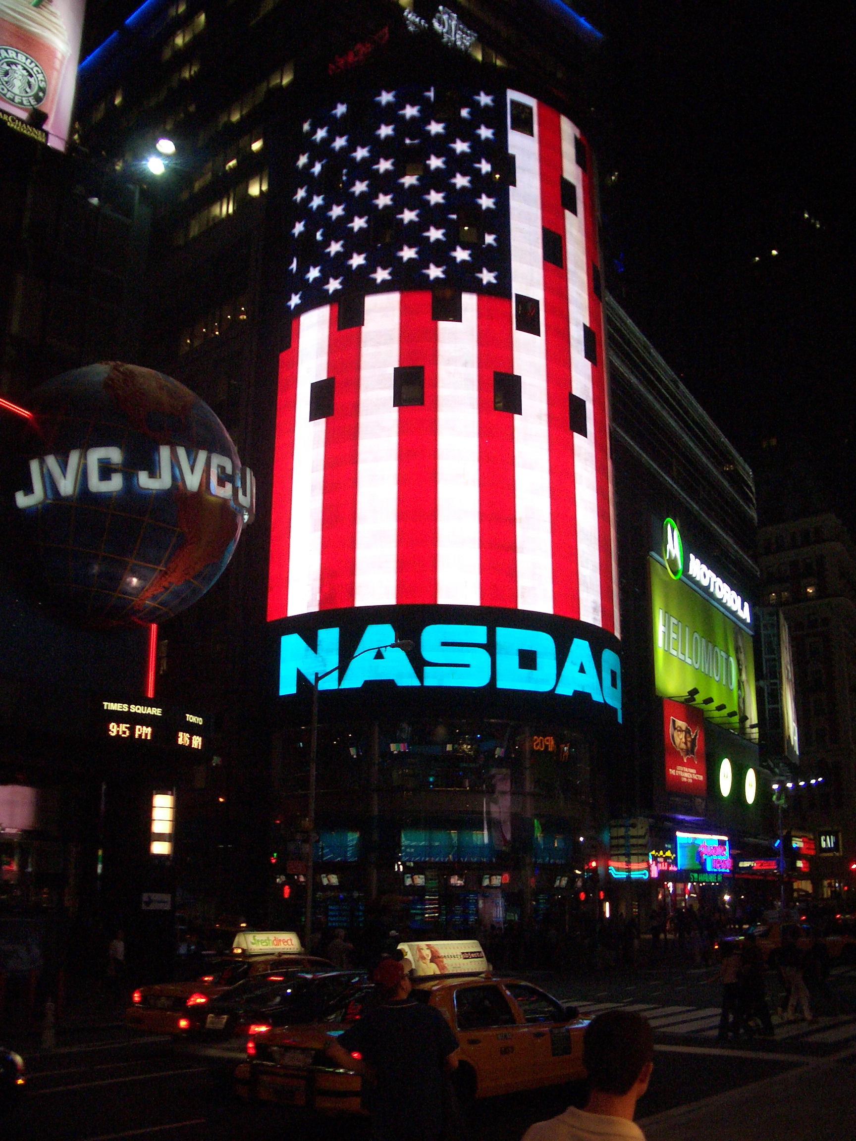 [Picture: Nasdaq (a New York-based Stock Exchange)]