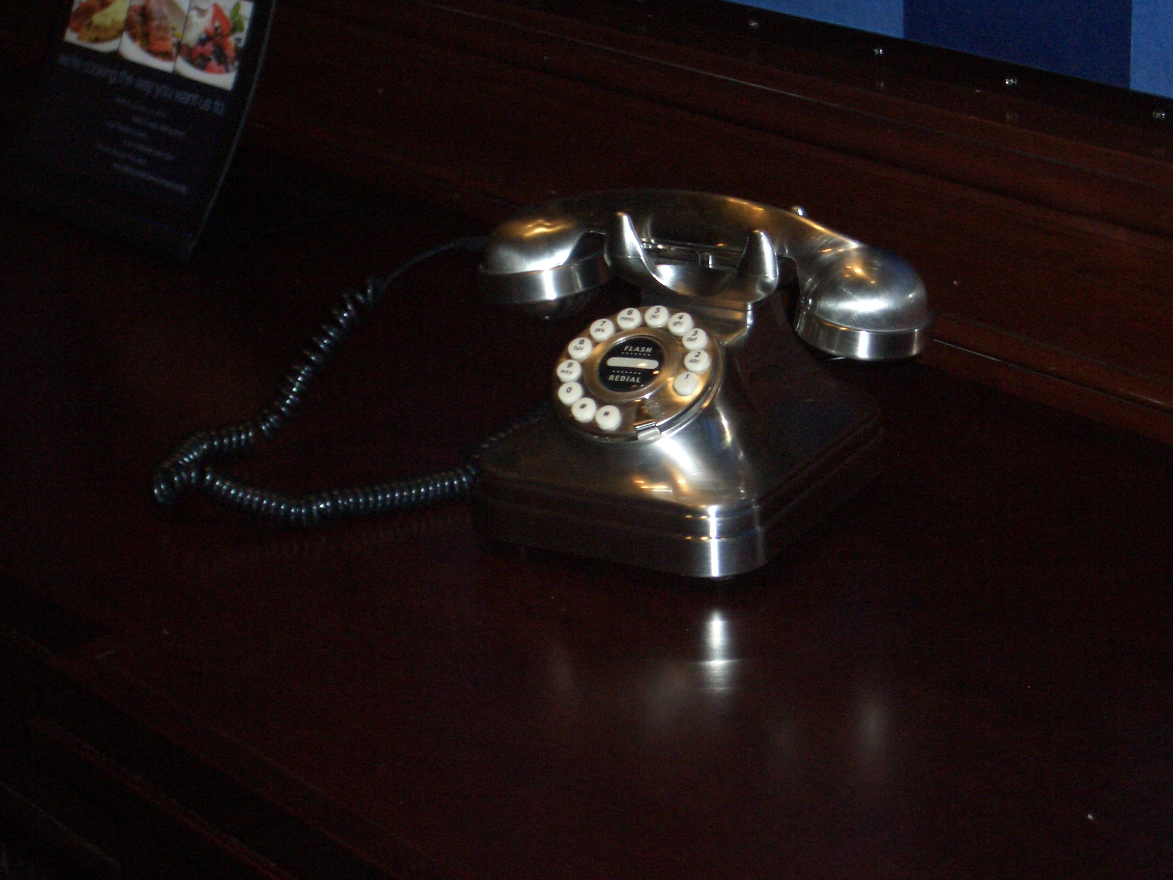 [Picture: Old-fashioned telephone]