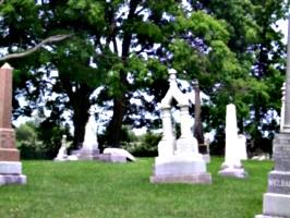 [picture: Gravestones under the tree]