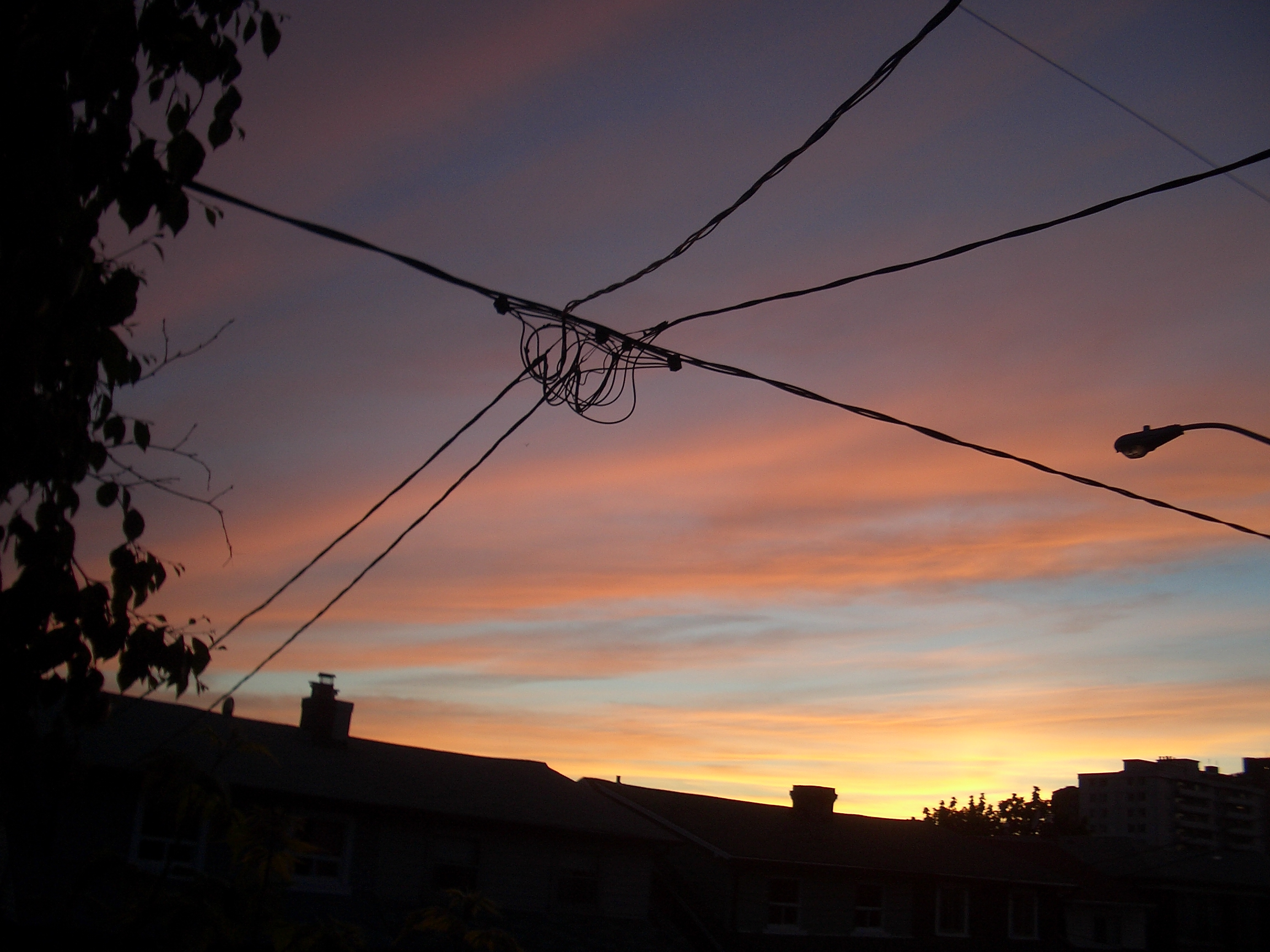 [Picture: Sunset on Lauder Avenue]
