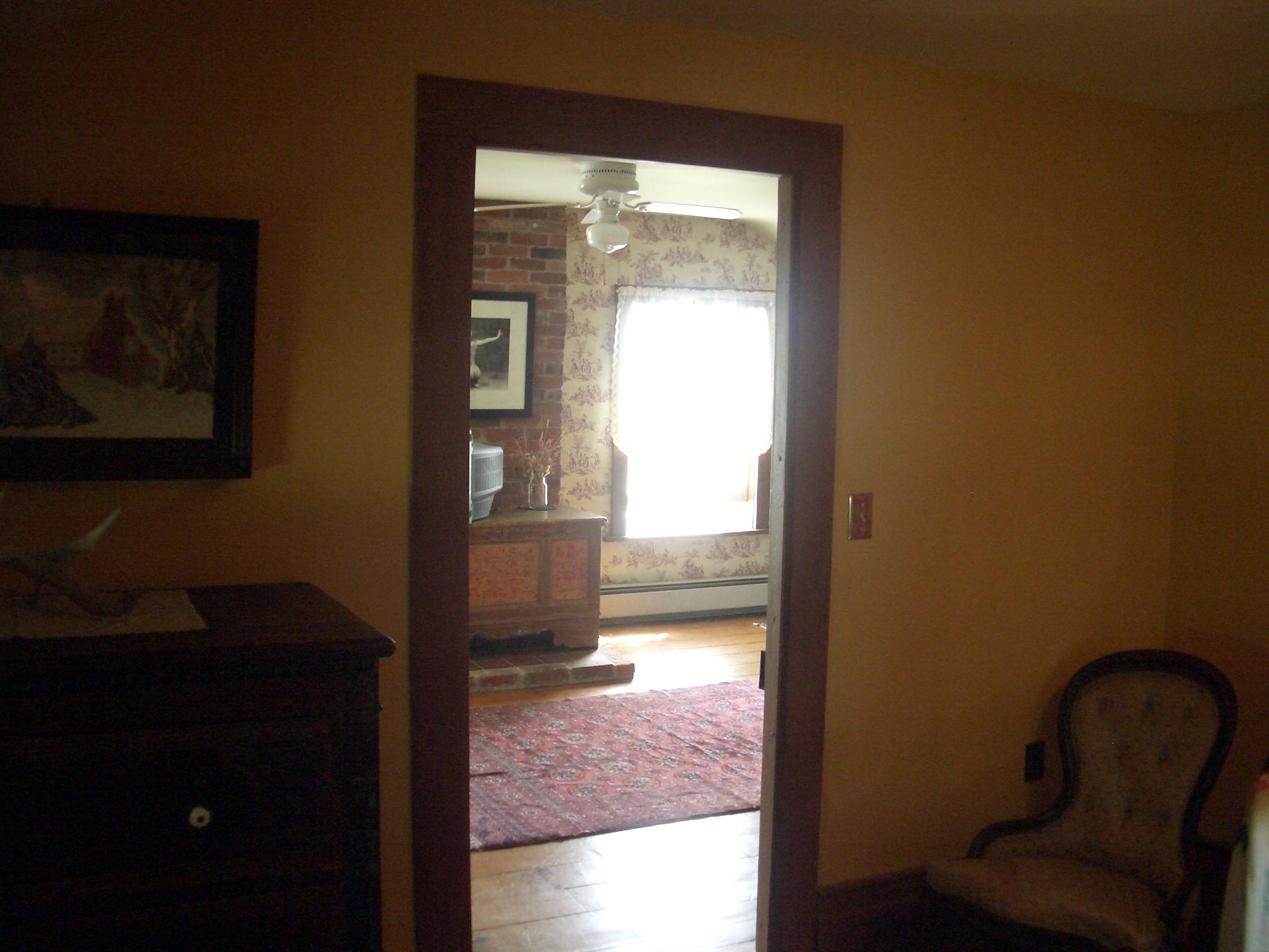[Picture: Looking through a door.]