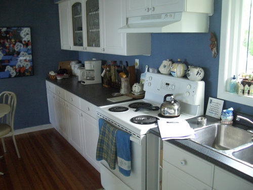 [Picture: A blue kitchen]