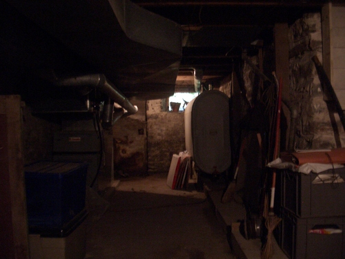 [Picture: basement with furnace]